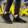 Мужские кроссовки черные в стиле Adidas Размеры 40, 41, 42, 43, 44, 45