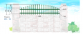 Секция низкая арочная с использованием штакетин из профильной трубы 25х25 оцинкованная и покрашенная на металлических, бетонных, кирпичных столбах, заборы, ограждения, секционные ограждения