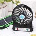 Настольный маленький вентилятор Portable Fan черный, портативный usb вентилятор на батарейках