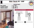 Раздвижные системы Slido Classic 40 - 160P без амортизатора