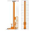 Кран-штабелер стеллажный с ручным управлением из кабины СР-0,5... 1,0, г/п 0,5; 0,1 тн, высота подъема 0÷10,8 м