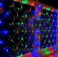 Гирлянда электрическая штора 96 лампочек LED, 8 режимов свечения.