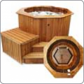 Wooden spa pool of Polar Aquaking HT150PAK1
