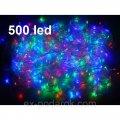 Светодиодная гирлянда LED 500 диодов, цвет мультиколор, 8 режимов, для дома и улицы.