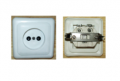 The socket without the grounding contact, single RS-002 (euro)