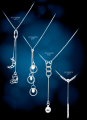 Necklace, suspension brackets Au 585 gold ° tests, Ag 925 silver ° tests, jewelry for women and girls, pr-in Sapphire. Khmelnytskyi, Ukraine