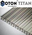 Сотовый поликарбонат усиленный SOTON TITAN 8 мм , структура Х/3 (прозрачный)