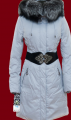 Пуховики женские.ПУХОВИК светло-серый, РАЗМЕР 48-50