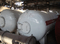 The tank steel with a capacity of 10 - 75 cbm horizontal cylindrical for storage of oil products