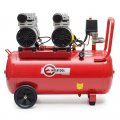 Компрессор 50л, 2х0.75 кВт, 220В, 8атм, 270л/мин, малошумный, безмасляный, 4 цилиндра INTERTOOL PT-0023