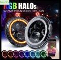 Cветодиодная LED фара с Bluetooth управлением75Вт Нива, УАЗ, ВАЗ 2101, 2121, FJ Cruiser, мото,7 дюйм