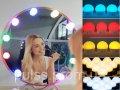 LED Подсветка для зеркала с пультом 10 ламп RGB с регулировкой яркости и цвета для макияжа USB Vanity Mirror