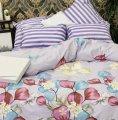 Комплект постельного белья Фиолетово-серая полоска