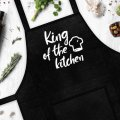 Фартук с надписью King of the kitchen (Король кухни) подарок на день рождения