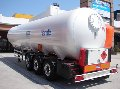 The semi-trailer tank for transportation of the liquefied hydrocarbonic gases