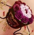 Подарочный ФИОЛЕТОВЫЙ набор мыла из роз в шляпной коробке | Мыльные цветы