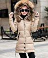 Женская зимняя теплая куртка-парка с капюшоном.