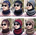 Женская шапка+шарф-хомут.