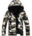 Армейская, камуфляжная мужская зимняя куртка с капюшоном в стиле панк хип-хоп.