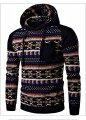Брендовый модный свитер с капюшоном для мужчин.