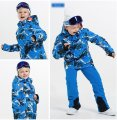 Водонепроницаемый ветрозащитный лыжный-(Сноубординг) комбинезон для мальчиков и девочек.