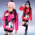 Детская ветрозашитная куртка для девочек с мультяшным принтом