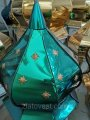 Купол зеленый для храма с золотыми звездами