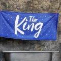 Пляжное полотенце большое с принтом The King