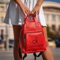 Стильный женский рюкзак Calvin Klein Красный