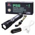Мощный ручной фонарь Police X71-HP50, ЗУ microUSB