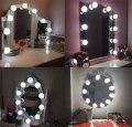 Подсветка белая для зеркала с регулировкой яркости для макияжа NO378-1