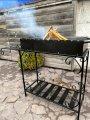 Мангал на 12 шампуров с дровницей Толщина жаровни 3 мм подарки на день рождения