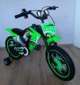 Дитячий велосипед Мотоцикл Trade двоколісний 12 дюймів. З додатковими коліщатками. На 2-4 роки