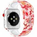 Силиконовый ремешок с рисункомдля Apple watch 38mm / 40mm