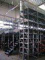 Многоэтажные полочнные  стеллажи
