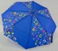 Женский зонт на 8 спиц полуавтомат цвет синий с рисунком