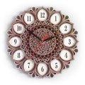 MCLO10001 Деревянные часы Мандала, ~28-30 см