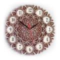 MCLO10002 Деревянные часы Мандала, ~28-30 см