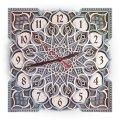 MCLO10004 Деревянные часы Мандала, ~28-30 см