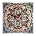 MCLO10011 Деревянные часы Мандала, ~28-30 см