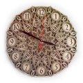 MCLO10013 Деревянные часы Мандала, ~28-30 см