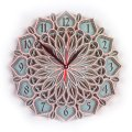 MCLO10015 Деревянные часы Мандала, ~28-30 см