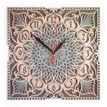 MCLO10017 Деревянные часы Мандала, ~28-30 см