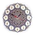 MCLO10019 Деревянные часы Мандала, ~28-30 см