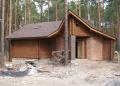 Домики дачные деревянные из цельного оцилиндрованного бревна, заказать строительство