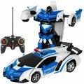 Трансформер машинка WOW Lamborghini POLICE Robot Car Автобот с пультом радиоуправляемая модель 1:18