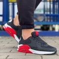 Мужские демисезонные кроссовки в стилеNike Air Max90 с красными вставками Размеры 40, 41, 42, 43, 44, 45