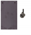 Silicon electrode Si99.99% EAV-6 Pearls with titanium fasteners