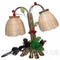 Светильник дерево, настольная лампа, красная лампа, 260х260х100
