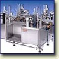 Automatic rotor filling and packaging M-17 unit. Packaging in glasses.